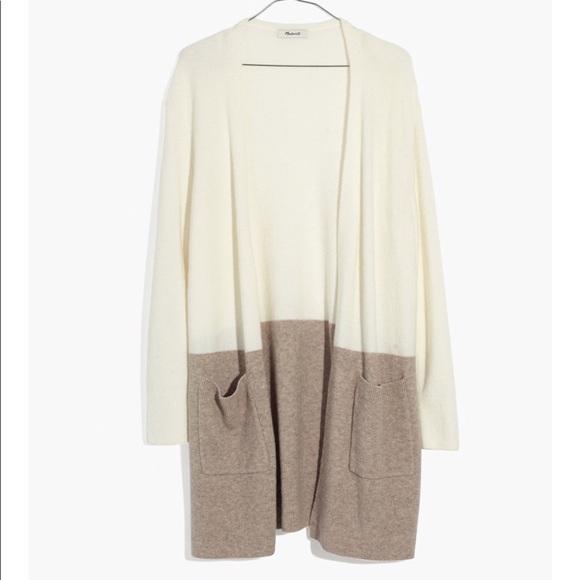 f86b321e4f0 Madewell Sweaters - Kent Colorblock Cardigan Sweater in Coziest Yarn